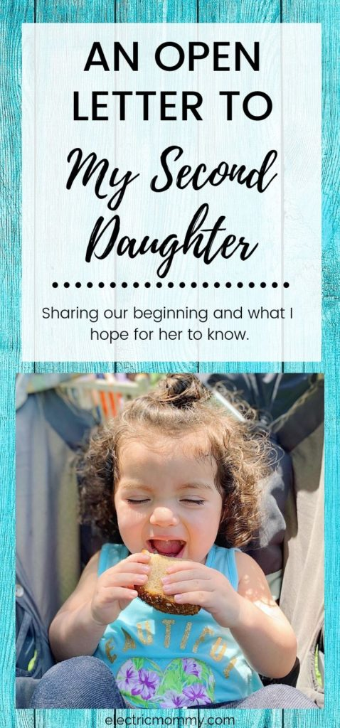My second daughter and I had a rough start. We are closer than ever now though, and I wanted to share a letter I wrote to her just before her second birthday. | Dear Daughter Letter from Mother | To My Strong Willed Child | Letter to Daughter | Letter to Daughter from Mother #motherhood #parenting #openletter #deardaughter #girlmom #momlife