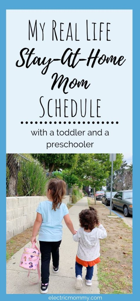 Balancing new schedules as my girls get older hasn't always been very easy for me but, it helps to have a routine to stick to as much as possible. Here's a peek into my day with a toddler and a preschooler. | Becoming a Stay at Home Mom | Advice for Stay at Home Moms | Stay at Home Mom Routine | Stay at Home Mom Schedule | Mom Articles #sahm #motherhood #momlife #momminainteasy #stayathomemom #momarticles