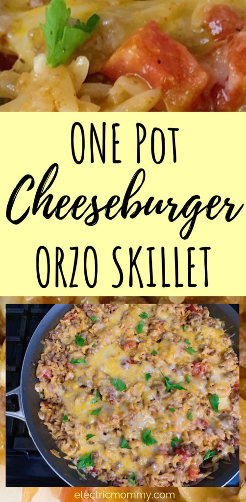 I love orzo! It's my new favorite pasta because of it's versatility. Here, I use it in a super simple, one pot meal that is perfect for a busy weeknight! | One Pot Meals | One Pot Pasta | One Pot Recipes | Easy Weeknight Meals | Easy Weeknight Meals for Families | One Pot Recipes Pasta | Orzo Recipes #onepotrecipes #onepotmeals #onepanrecipes #easyweeknightrecipes #easydinnerrecipes #pickyeatermeals #orzosalad #orzorecipes