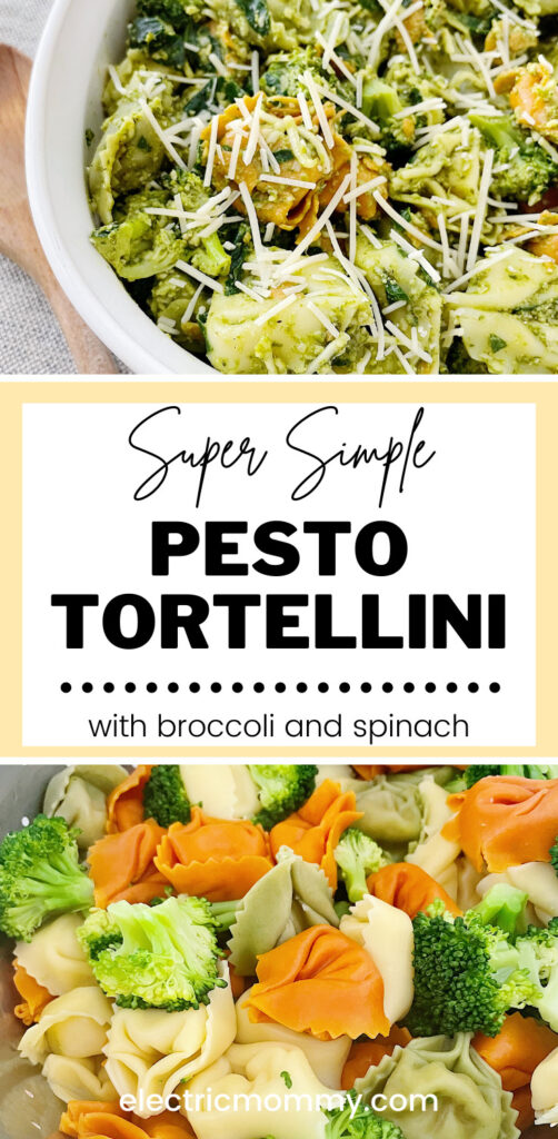 Pesto Tortellini | Tortellini Pasta Salad | Cold Tortellini | Tortellini with Broccoli | Pesto Tortellini Salad