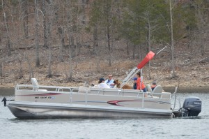 a Branson Boat Club family with their dog