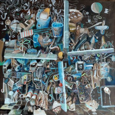 Luka Dedic, Propeler, 70x70 cm, oil on canvas