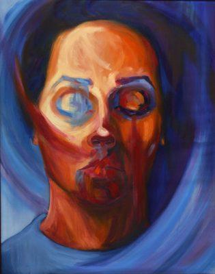 Author Aleksandra Rakonjac, Title Vortex, Medium Oil on canvas