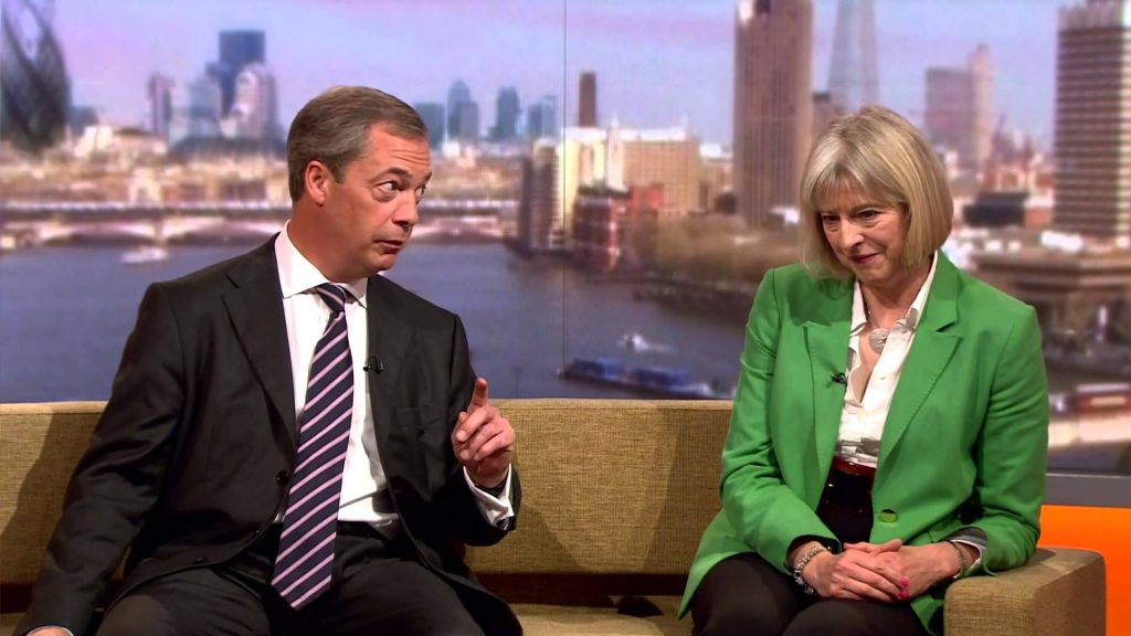 Farage and Theresa May