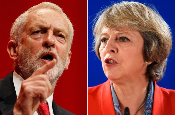 Corbyn and May face questions in live TV interview