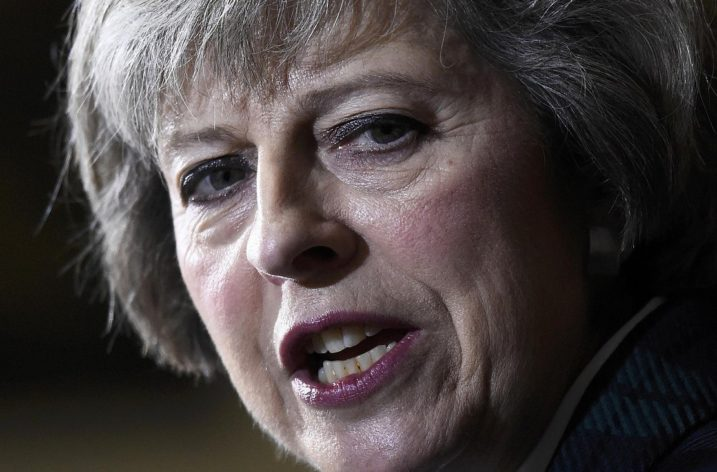 Mrs May, visibly angry and rattled by questions
