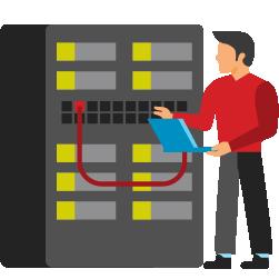 man fixing database server