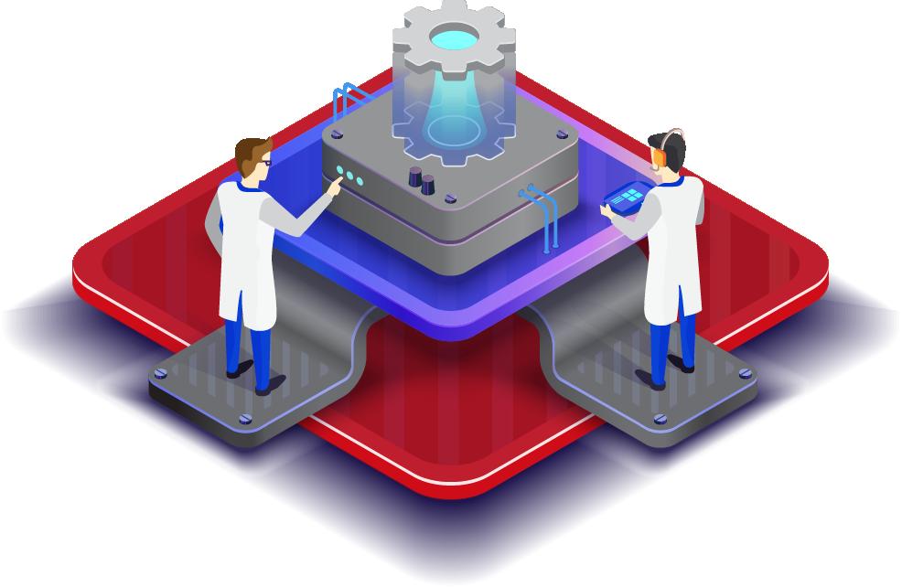 illustration of server configuration