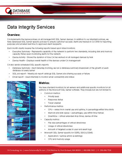 data integrity services first page image