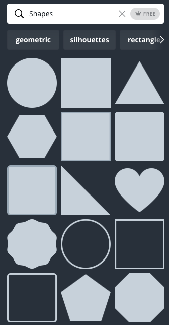 Canva shapes