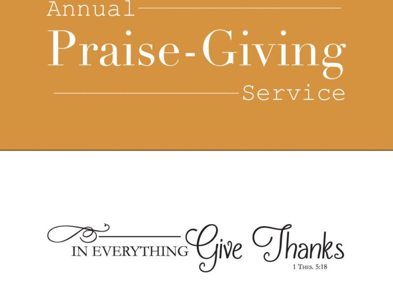 Annual Praise-Giving Service 2016