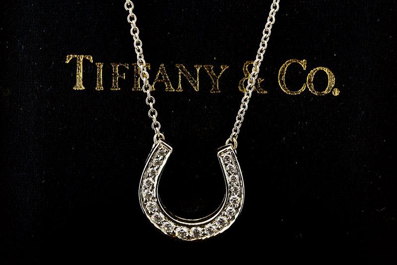 Tiffany &. Co. Platinum Horseshoe diamond pendant 1