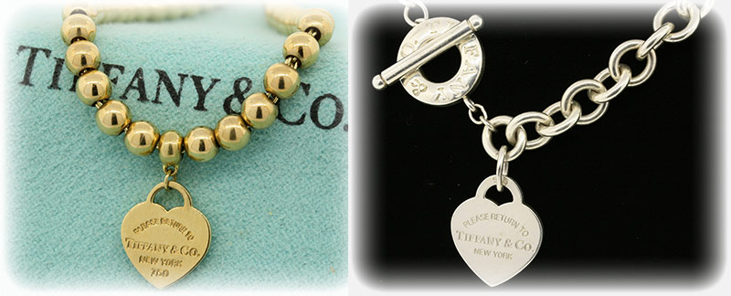 Tiffany & Co. Return To. Heart tag Necklace and Bracelet Designer Jewelry Collections
