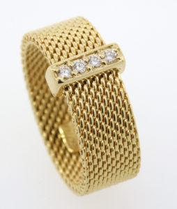Tiffany & Co. Somerset 18k gold diamond ring