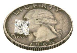 Jason's princess cut diamond worth $575