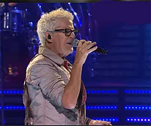 Kevin with REO Speedwagon on AXS TV