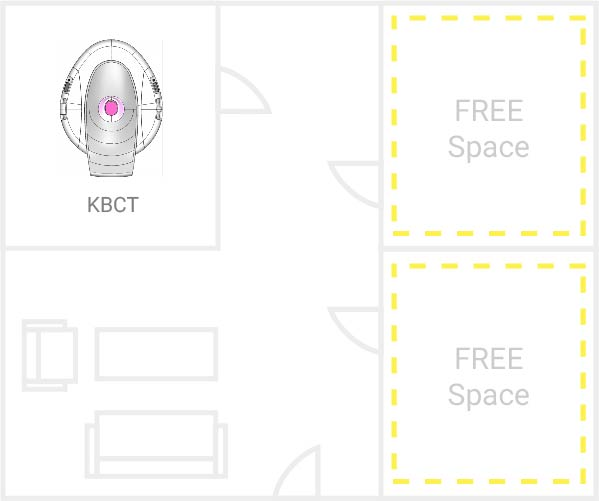 Facility floorplan with KBCT
