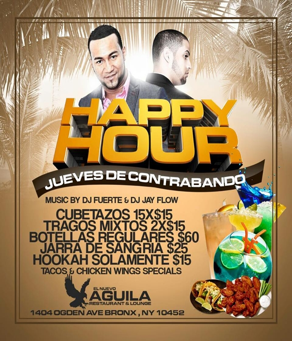 Happy hours flyer