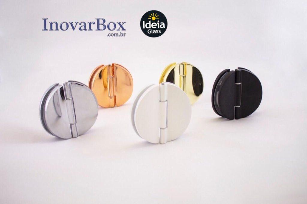 Novas cores das dobraiças, disponível nas cores: Branco, Preto, Rosê, Dourado e Cromado