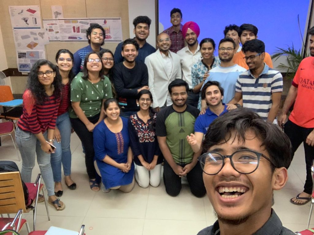 architects students from delhi SPA with a plus r architects raaghav after a workshop