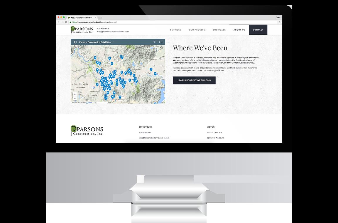 Parsons Construction Website
