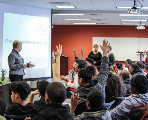 Woman teaching Got Money! (Personal Responsibility Education Program)
