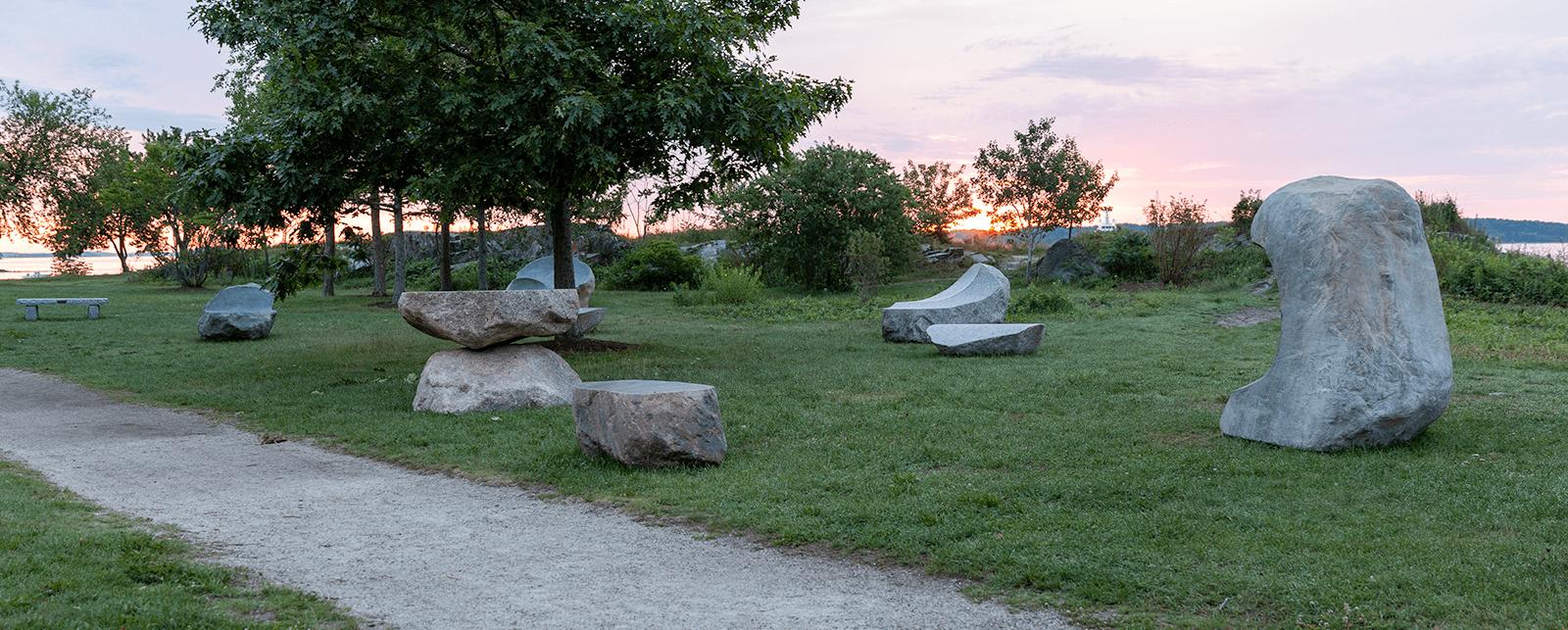 Gathering Stones at Sunrise