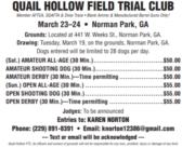 QUAIL HOLLOW FIELD TRIAL CLUB