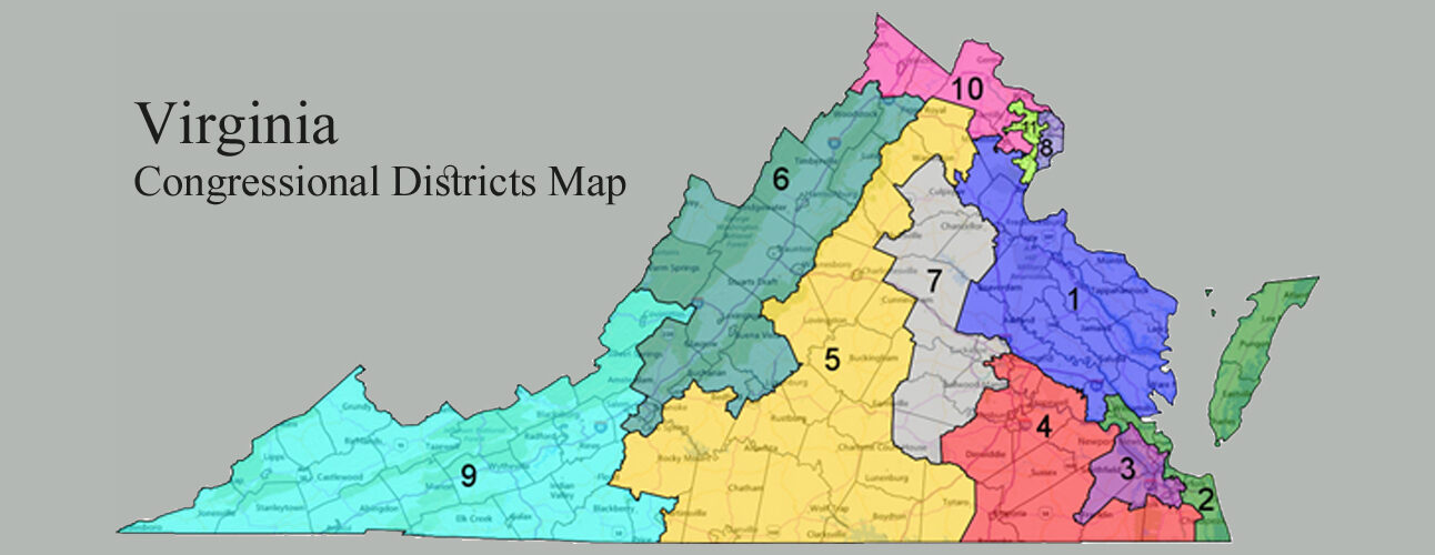 VIRGINIA CONGRESSIONAL DISTRICTS MAP