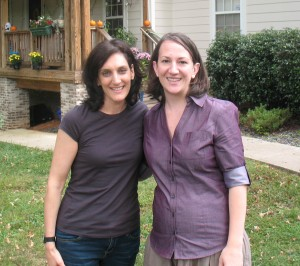 Maeve & Jacquie in Front of House