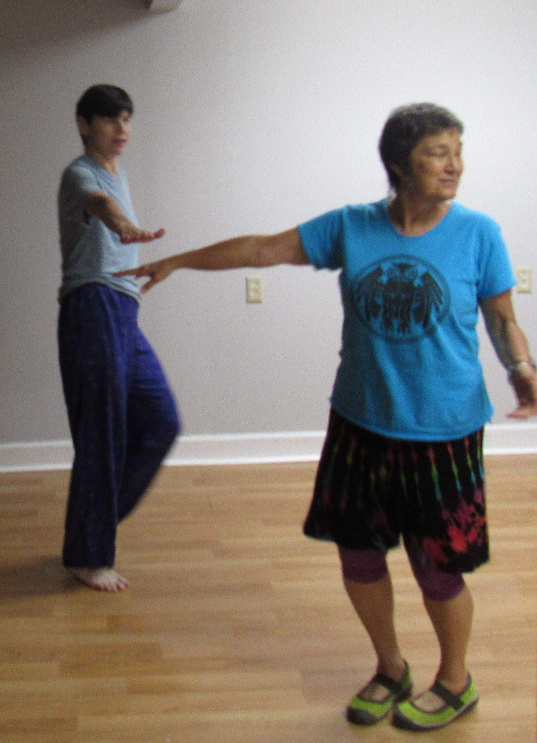 Catherine Faherty Happy Stimmy Dancing with Dancer