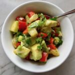 Fresh, bright, sweet, creamy, crunchy, and bursting with flavor, this Zippy Pineapple Salsa has red pepper, jalapeño, cilantro, scallion, lime, and avocado. It's the perfect topping for just about anything grilled. It's also just perfect for eating with chips or as a salad on it's own!