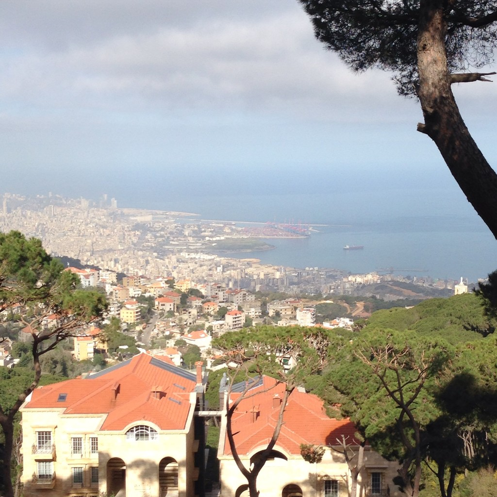 View of Beirut from Broummana, Mount Lebanon