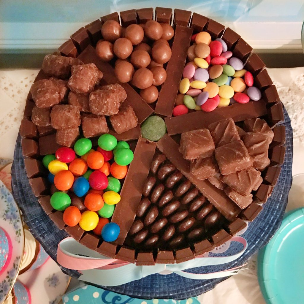 Chocolate Candy Box Cake Made With Kit Kat Border