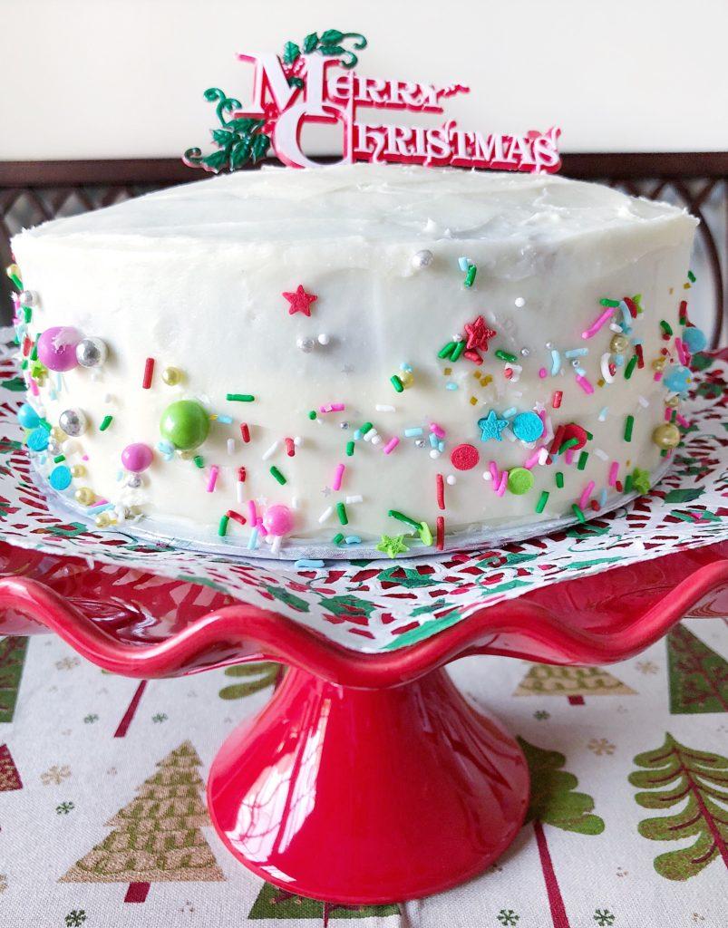 Red Cake Pedestal