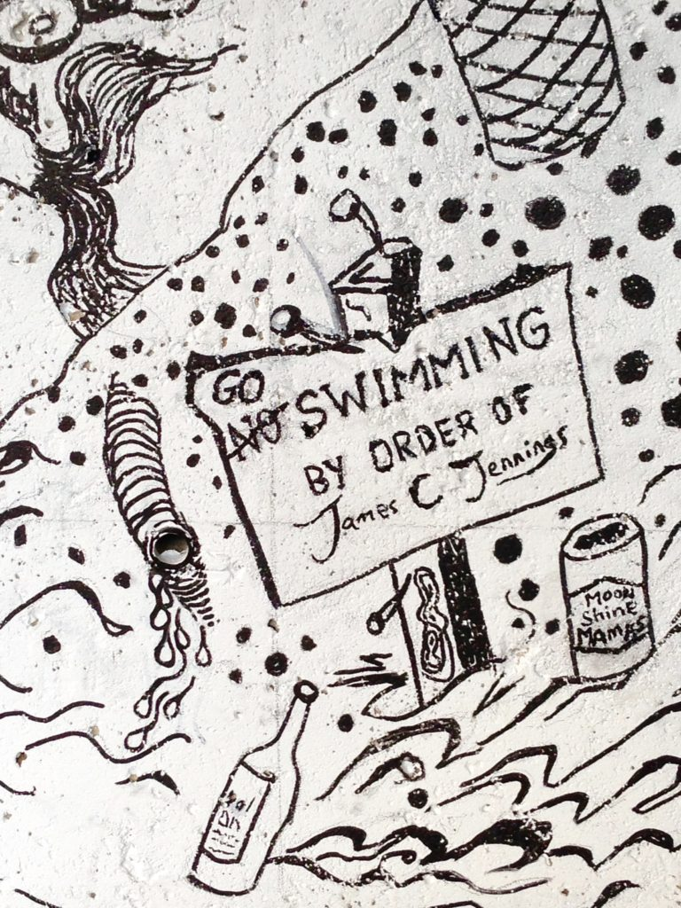 Detail of 'Go Swimming' by James C Jennings
