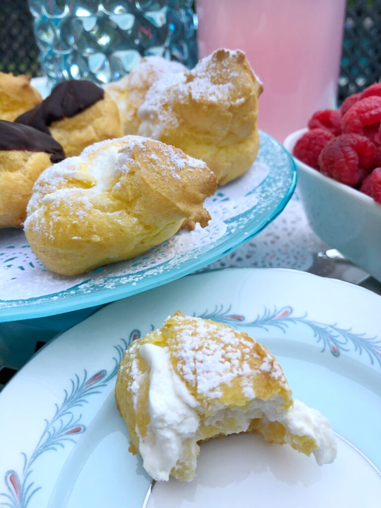 Homemade Cream Puffs Filled With Whipped Cream