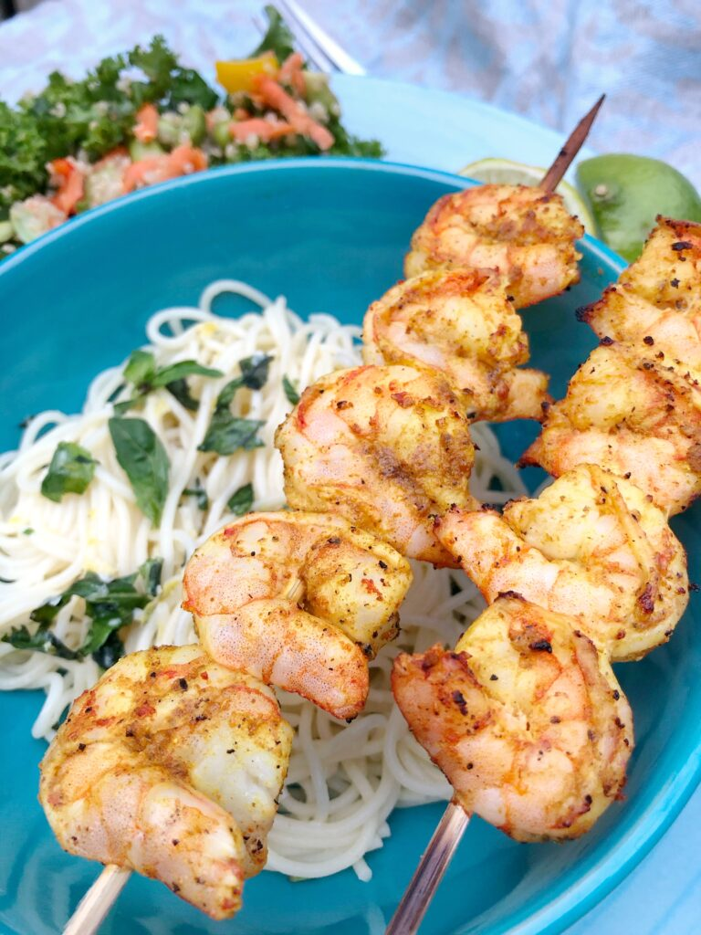 Curry Grilled Shrimp