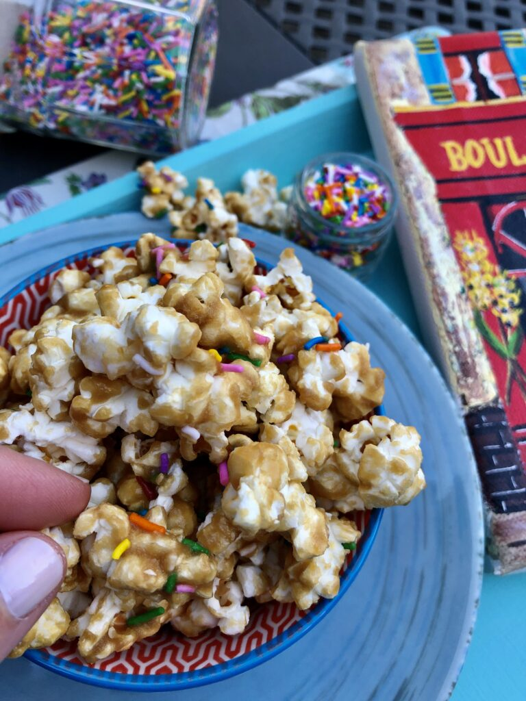 Caramel Corn With Sprinkles
