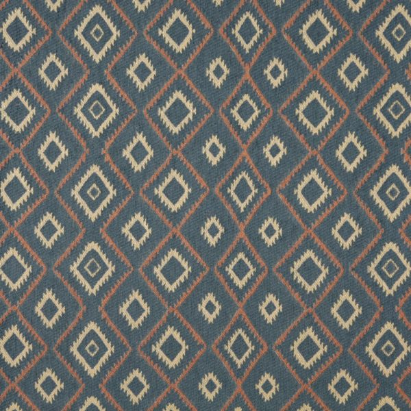 CF-9749 Southwest Upholstery Fabric Baja Blue