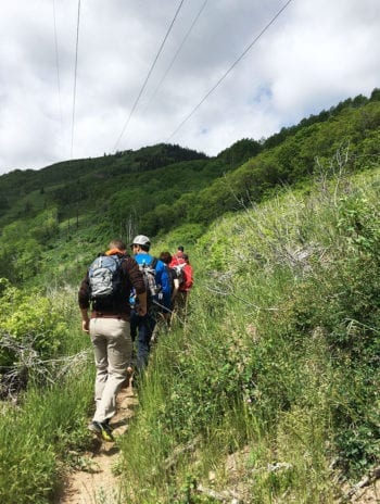 Hops Hunters hike in Empire Canyon earlier this month. Photo courtesy of Summit Land Conservancy.