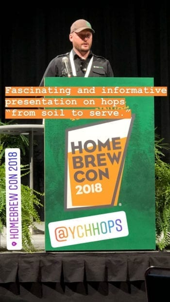 Homebrew Con 2018 - YCH Hops