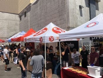More than 20 pie and beer tents lined the perimeter at the Beer Bar Pie & Beer Day event.