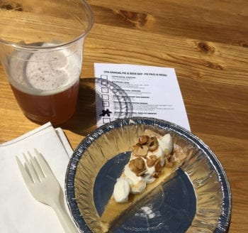 Park City Brewery paired its Rye Pale Ale with a bananas foster dulce de leche from Stein Eriksen Lodge.