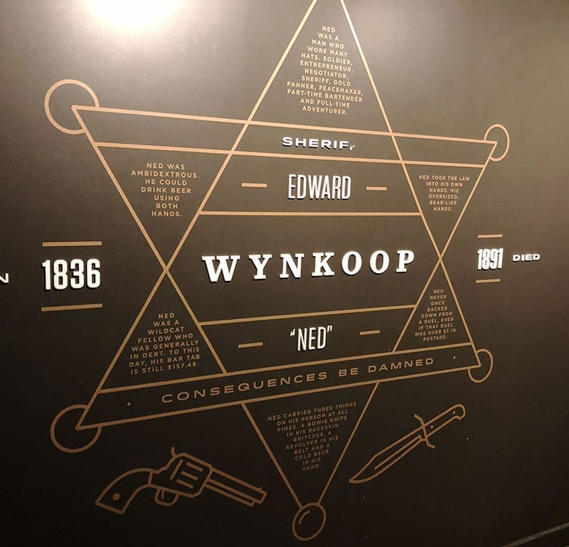 "The basement of Wynkoop Brewing pays homage to Edward ""Ned"" Wynkoop, a Denver founding father."