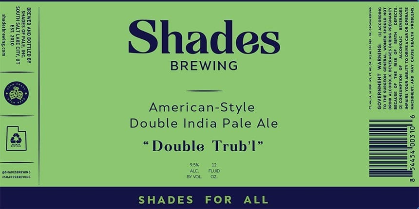 Shades Brewing - Branding - Double Trub'l - Featured - Utah Beer News