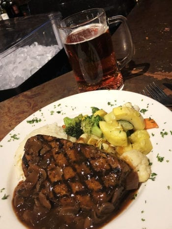 Chef's Meatloaf at Bohemian Brewery with a side of Oktoberfest.