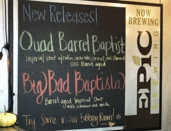 "Epic Brewing in Salt Lake City recently unveiled its remodeled taproom. It came days before the start of ""Baptist Season,"" providing a comfortable spot for craft beer enthusiasts to sip and savor the 2018 ""Baptist"" lineup."
