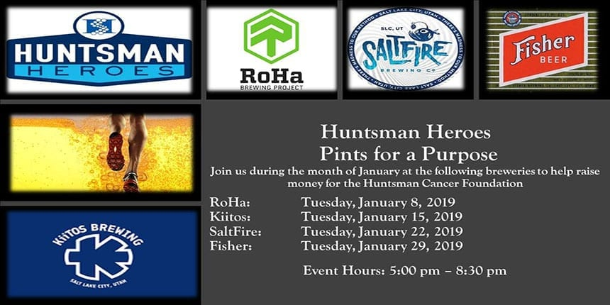 Pints for a Purpose - Huntsman Heroes January