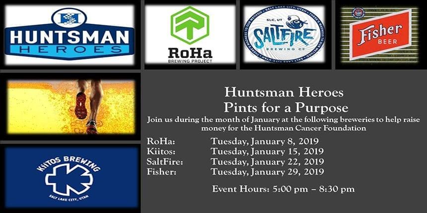Pints for a Purpose - Huntsman Heroes January